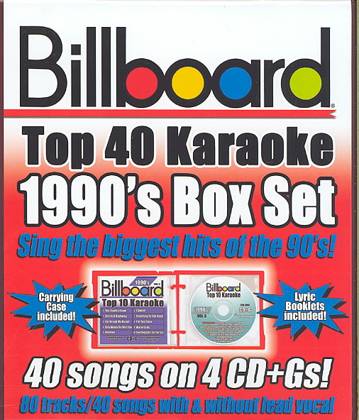 BILLBOARD 1990'S TOP 40 KARAOKE BOX S BY SYBERSOUND (CD)